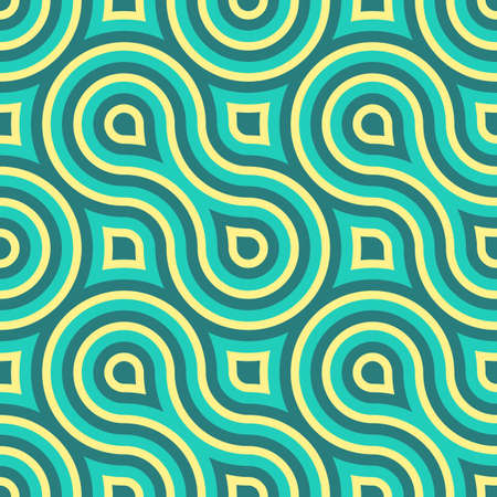 Geometric Vintage Retro Seamless Pattern Illustration Vector