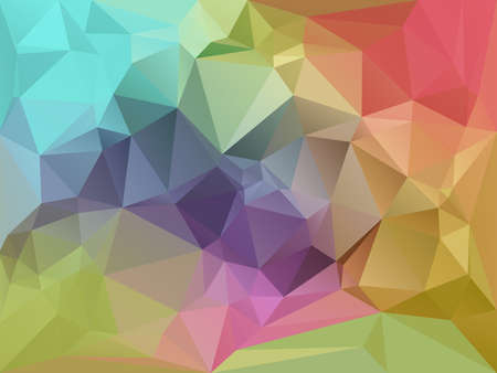 fragmentation: Abstract Color Triangles Background Illustration