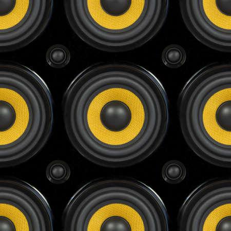 Audio Speaker Cone Detail Seamless Pattern Photo photo