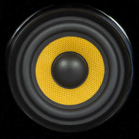 transducer: Audio Speaker Cone Detail Background Photo  can be used for seamless pattern  Stock Photo