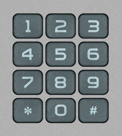 bitmaps: Numeric Keypad Bitmap Illustration Stock Photo