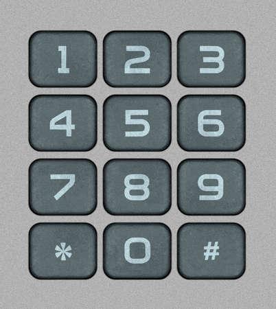 teclado numerico: Numeric Keypad Ilustración Bitmap