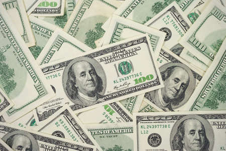 bitmaps: 100 Dollar Bills Background Horizontal Photo Stock Photo