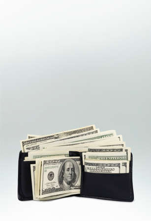 bitmaps: Wallet Full of Hundred Dollar Bills  photo with clipping path