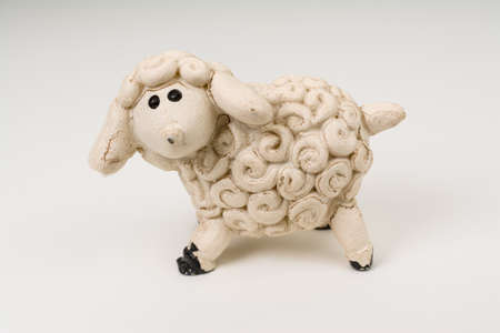 bitmaps: Miniature Model Sheep Photo  with clipping path