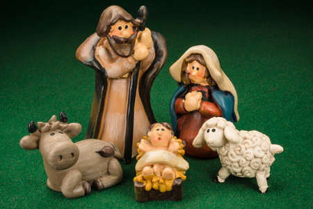 nativity scene: Miniature Models Christmas Crib Nativity Scene Photo