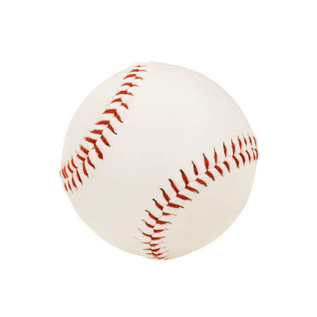 bitmaps: Isolated Baseball Over White Background  with clipping path  Stock Photo