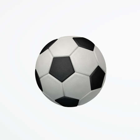 bitmaps: Isolated Soccer Ball 3D Illustration  Stock Photo