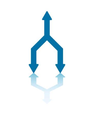 arrowheads: One Arrowhead Transforming Into Two Arrowheads