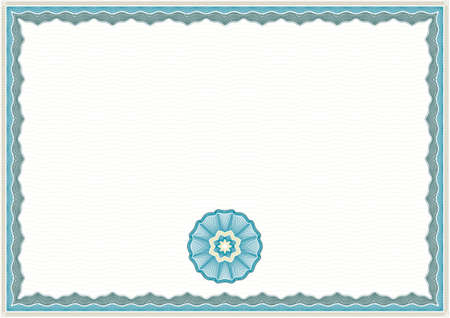 attendance: Guilloche Background for Certificate or Diploma (background, frame and rosette) Illustration