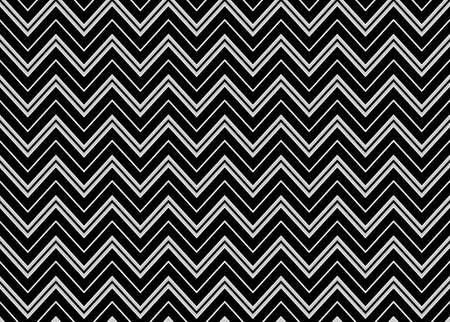 Chevron Seamless Pattern in Black and White  Vector