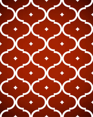 red wallpaper: Traditional Ornamental Geometric Seamless Pattern Vector Illustration (jpeg file also has clipping path) Illustration