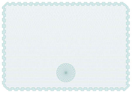 valuation: Horizontal Geometric Certificate Background Vector Illustration
