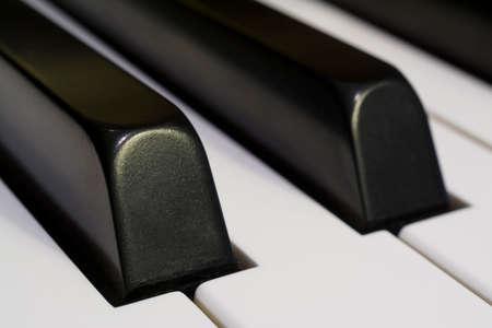 re do: Detail of Piano Keys Horizontal Close-up Photograph Stock Photo