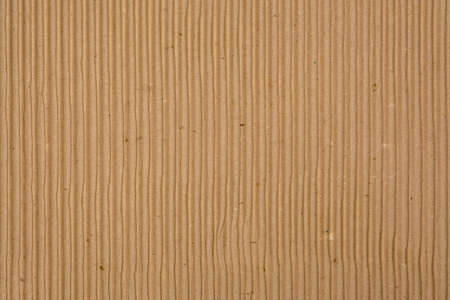 indentation: Corrugated Recycled Cardboard Texture Photo (vertical grooves) Stock Photo