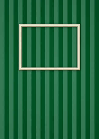 bitmap: Minimalist Picture Frame Over Stripped Wallpaper Bitmap Illustration (frame has clipping path)