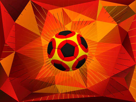 soccerball: Soccer Ball Over Polygonal Dynamic Background With Colors of German Flag