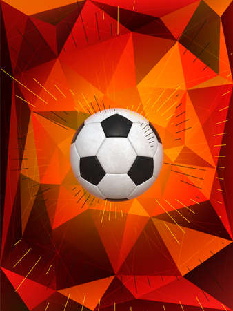 dynamic background: Soccer Ball Over Polygonal Dynamic Background With Colors of German Flag