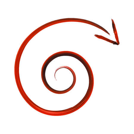 dynamic movement: Spiral Arrow Icon Vector Illustration (with clipping path)
