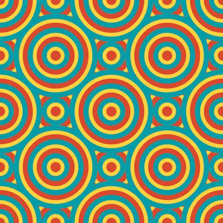 sixties: Retro Geometric Seamless Pattern Vector Illustration Illustration