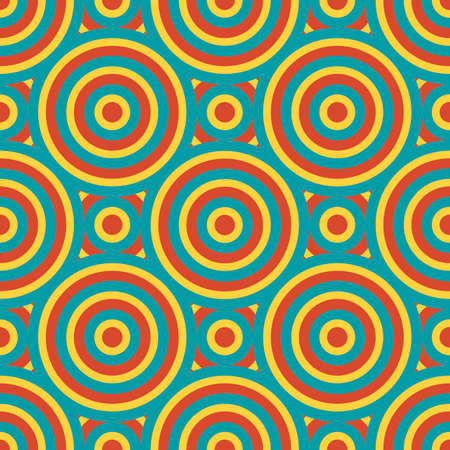 Retro Geometric Seamless Pattern Vector Illustration Illustration