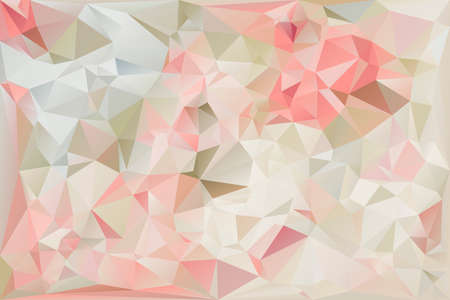 Soft-Colored Polygonal Abstract Background Çizim