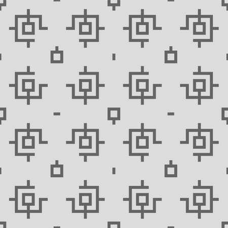 squared: Squared Elements Retro Geometric Seamless Pattern Vector Illustration Illustration