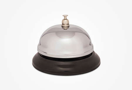 Service Bell Isolated on White Background With Clipping Path