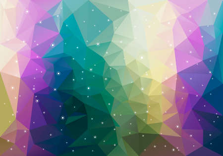 Vector Polygon Background With Random White Circles