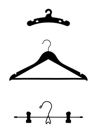 clothes hangers: Clothes Hangers Vector Illustrations