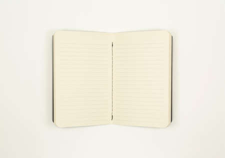 Open Notebook With Lined Paper (with clipping path)