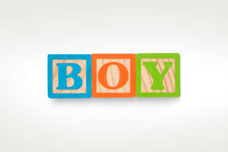 BOY building blocks isolated on a white background