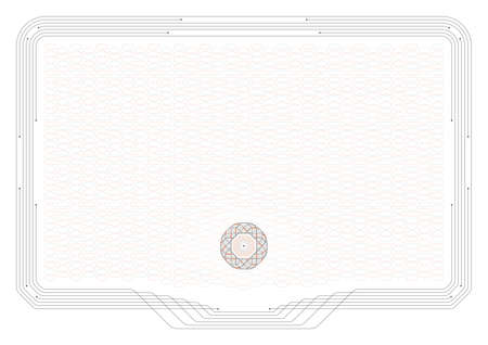 Technology Certificate Horizontal Background Vector Illustration