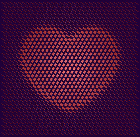 Heart Shape Comprised of Geometric Pattern Vector Illustration