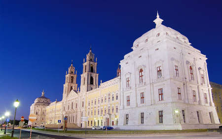 convent of Mafra at dusk Stock Photo