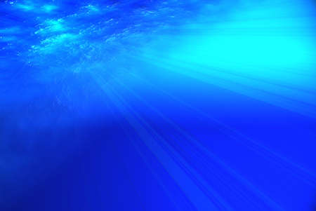 deep blue sea, view form beneath the water (ray lights)