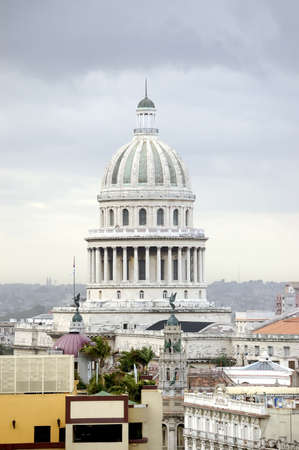 top view of Capitolio in city of havana, Cuba Standard-Bild