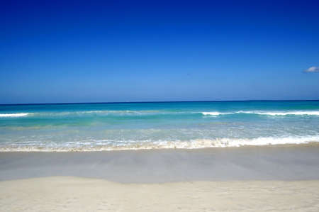 desert beach at cuba with white sand and beautifull ocean