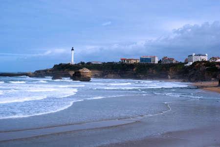 Dies ist die wichtigste Biarritz Beach in Baskenland (Frankreich)  Standard-Bild - 2834371