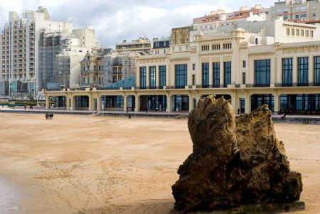 Dies ist die wichtigste Biarritz Beach in Baskenland (Frankreich)  Standard-Bild - 2834385