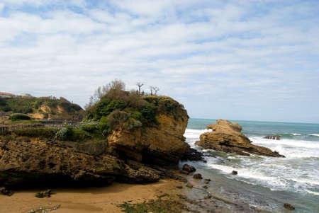Dies ist die wichtigste Biarritz Beach in Baskenland (Frankreich)  Standard-Bild - 2834372