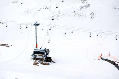 Früher Schuss eines Schneefall Ort, ohne jemand  Standard-Bild - 2834363