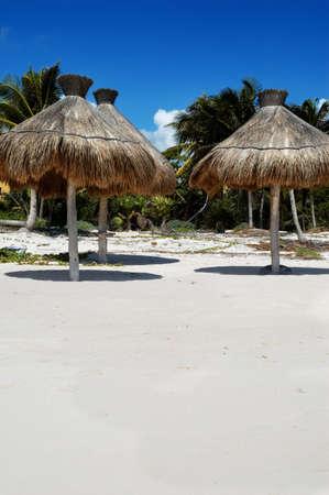 Tropical Beach im Sommer, Mexiko Riviera Maya  Standard-Bild - 2899687