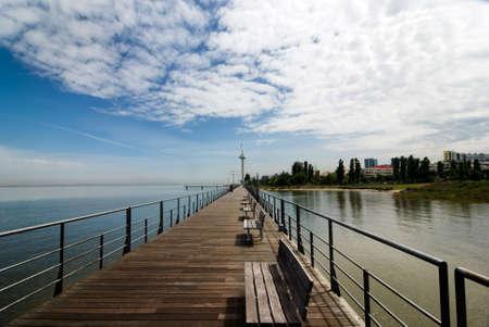 Vasco-da-Gama-Brücke über den Fluss Tejo-Brücke ist die größte in ganz Europa Standard-Bild - 3007151