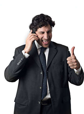 Geschäftsmann Ausdruck hapiness Daumen hoch  Standard-Bild - 3050746