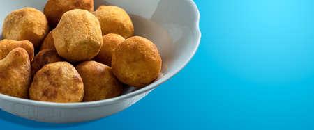 Vegan palm heart, Brazilian fried palm heart snack. (snack) 版權商用圖片