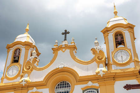 Tiradentes, Minas Gerais, Brazil - November 06, 2020: Matriz de Santo Antonio Church, Colonial city of Tiradentes, Minas Gerais state, Brazil Editorial