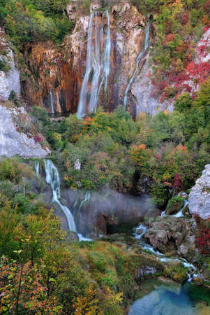 plitvice: big waterfall, plitvice Jezera, Croatia