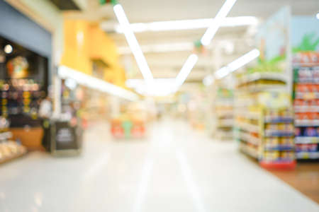 Shopping mall or department store with blurred background and bokeh light 写真素材