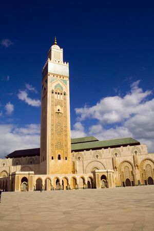 marocco: Arab Mosquee in Casa Blanca Marocco Africa Stock Photo